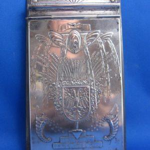 Art Deco verzilverde blocnote houder - 1932 - gemonogrameerd