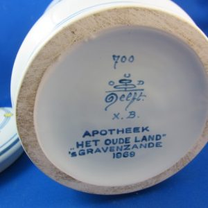 Grote Delftse albarello apothekerspot - s`Gravenzande