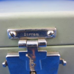 Vintage jaren 50 Sirram mint groene toilet garnituren kistje