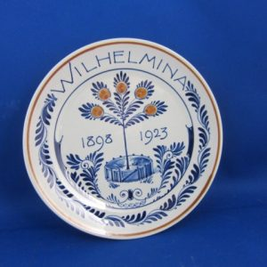 1923 - De Porceleyne Fles- bord Wilhelmina - 1923