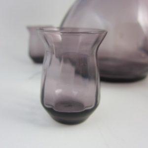 W.J.Rozendaal - 5-delig likeurstel - paars