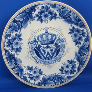1938 - De Porceleyne Fles - Bord Wilhelmina - 1898-1938