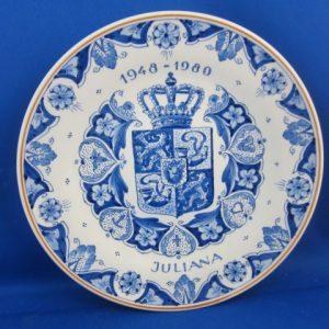 1980 - De Porceleyne Fles - Bord Juliana