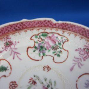 Famille rose porseleinen kop en schotel - China - ca 1750