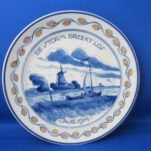 1914 - De Porceleyne Fles - Bordje De Storm breekt los