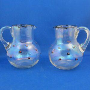 Chris Agterberg - 2 glazen kannen met emaille - ca 1920