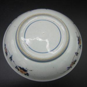 Porseleinen bord, schaaltjes en 2 schoteltjesl - Japan - 18e eeuw