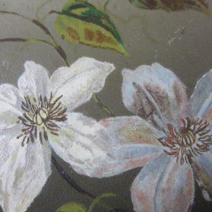 Handgeschilderd paneeltje op blik met decoratieve rand