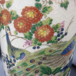 2 handgeschilderde Satsuma vazen - midden 20e eeuw