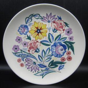 Poole pottery - Floraal bord - ca 1960