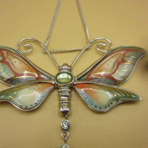 Franz vlinderhanger met zilveren ketting