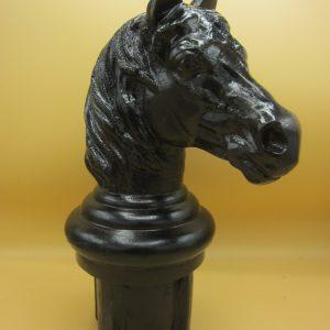 Aluminium paalkop in paardenkop vorm