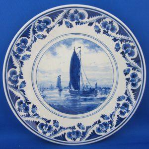 1956 - De Porceleyne Fles - Bord met schepen