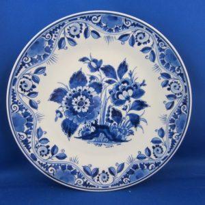 1959 - De Porceleyne Fles - bord met bloemen