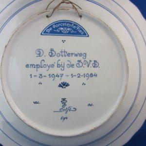 1984 - wandbord De Porceleyne Fles - SVB