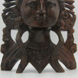 Rijk gesneden palissander beeld van danseres - Bali