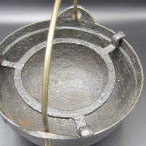 Antiek Gietijzeren en koperen komfoor