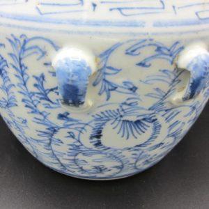 Porseleinen pot met bloemenrank - China - 19e eeuw